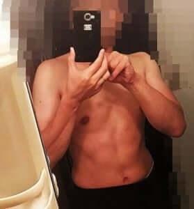 筋トレ後の私の体